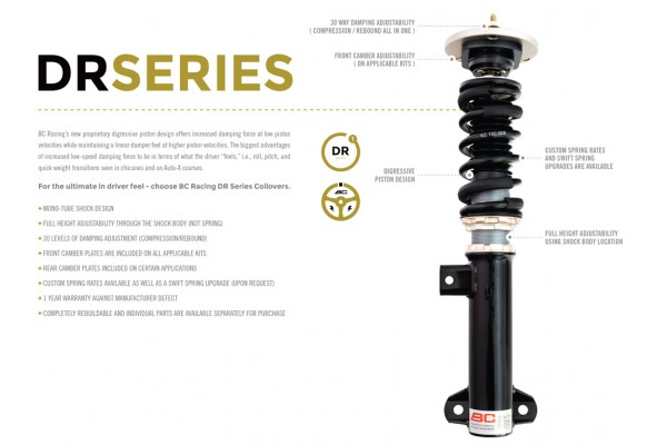 BC RACING DS SERIES COILOVERS  ALL VEHICLE APPLICATIONS