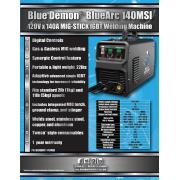 BLUE DEMON BLUEARC 140MSI MIG STICK MACHINE