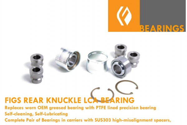 IS300, GS300/430/400 SC430 REAR KNUCKLE LOWER REAR PRESS-IN SPHERICAL BEARING