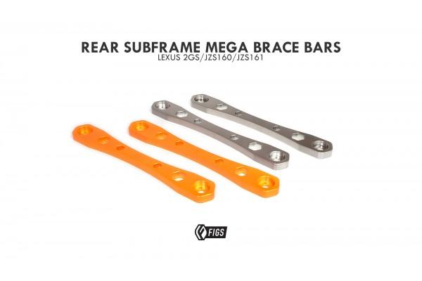FIGS REAR SUBFRAME MEGA BRACE BARS 2GS GS300 GS400 GS430