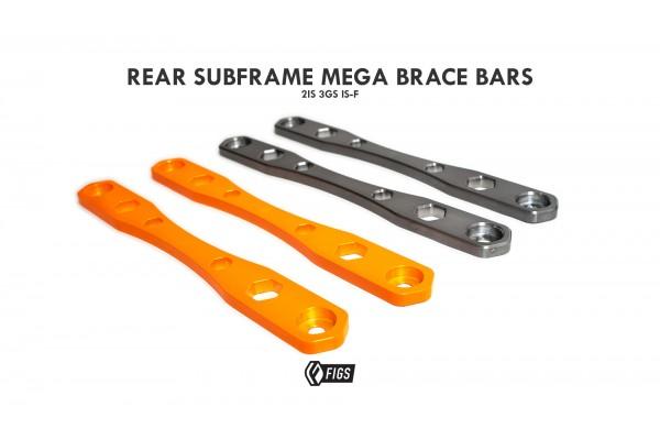 FIGS REAR SUBFRAME MEGA BRACE BARS 2IS,IS250, IS350, ISF, 3GS