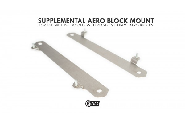 AERO BLOCK MOUNT FOR REAR SUBFRAME MEGA BRACE BARS 2IS,IS250, IS350, ISF, 3GS