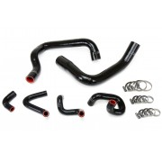 HPS BLACK REINFORCED SILICONE RADIATOR AND HEATER HOSE KIT COOLANT FOR FORD 86-93 MUSTANG GT / COBRA