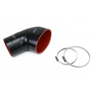 HPS Black Reinforced Silicone Post MAF Air Intake Hose Kit for BMW 01-06 E46 M3