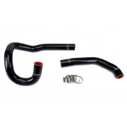 HPS Black Reinforced Silicone Radiator Hose Kit Coolant for Toyota 86-92 Supra 7MGE / 7MGTE