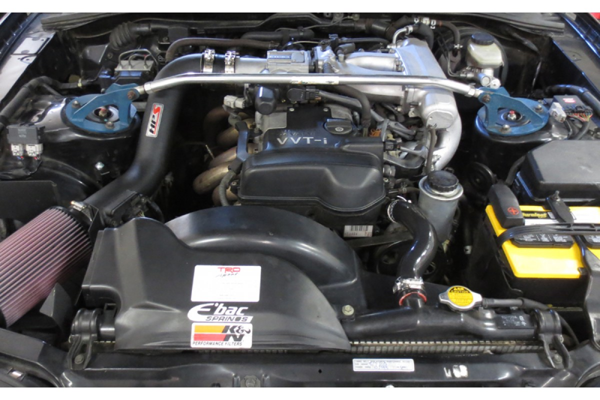Toyota 93-98 Supra Non Turbo 2JZGE HPS Black High Temp Reinforced