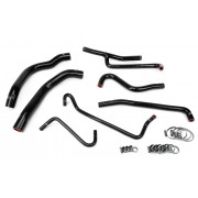 HPS BLACK REINFORCED SILICONE RADIATOR AND HEATER HOSE KIT COOLANT FOR FORD 11-14 MUSTANG 3.7L V6