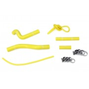 HPS YELLOW REINFORCED SILICONE RADIATOR HOSE KIT FOR SUZUKI 01-12 RM125 2 STROKE