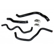 HPS BLACK REINFORCED SILICONE RADIATOR + HEATER HOSE KIT FOR HONDA 08-12 ACCORD 3.5L V6 LHD