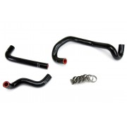 HPS BLACK REINFORCED SILICONE HEATER HOSE KIT FOR MAZDA 86-92 RX7 FC3S NON TURBO LHD