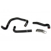 HPS BLACK REINFORCED SILICONE HEATER HOSE KIT FOR MAZDA 86-92 RX7 FC3S TURBO LHD