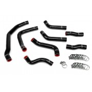 HPS BLACK REINFORCED SILICONE COOLANT HOSE COMPLETE KIT (8PC) FOR FRONT RADIATOR + REAR ENGINE FOR TOYOTA 90-99 MR2 3SGTE TURBO