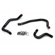 HPS Black Reinforced Silicone Heater Hose Kit Coolant for Toyota 86-92 Supra MK3 Turbo & NA 7MGE / 7MGTE Left Hand Drive
