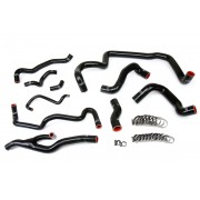 HPS BLACK REINFORCED SILICONE RADIATOR AND HEATER HOSE KIT COOLANT FOR MINI 07-11 COOPER S R56 1.6L TURBO AUTOMATIC TRANS