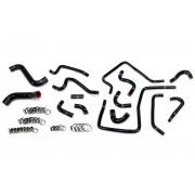 HPS Black Reinforced Silicone Radiator, Heater and Ancillary Hose Kit Coolant for Subaru 02-03 Impreza WRX 2.0L Turbo