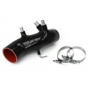 HPS BLACK REINFORCED SILICONE POST MAF AIR INTAKE HOSE KIT FOR TOYOTA 86-92 SUPRA 7MGTE TURBO