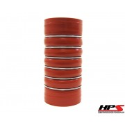"""HPS 3"""" ID , 12"""" Long High Temp 4-ply Aramid Reinforced Silicone CAC Coupler Hose Hot Side (76mm ID x 315mm Length)"""