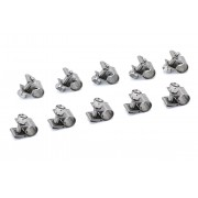 """HPS SAE #10 Stainless Steel Fuel Injection Hose Clamps 10pc Pack 23/64"""" - 7/16"""" (9mm - 11mm)"""