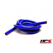 "HPS 1"" ID blue high temp reinforced silicone heater hose 10 feet roll, Max Working Pressure 50 psi, Max Temperature Rating: 350F, Bend Radius: 4.5"""