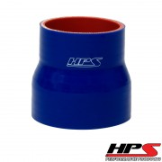 """HPS 3.38"""" - 3.5"""" ID , 3"""" Long High Temp 4-ply Reinforced Silicone Reducer Coupler Hose Blue (86mm - 89mm ID , 76mm Length)"""