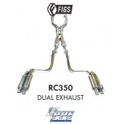 PPE RC350 STAINLESS DUAL EXHAUST
