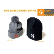 FIGS EMBROIDERED F BEANIE