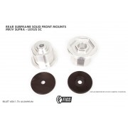 REAR SUBFRAME FRONT LOC PRESS-IN SOLID ALUMINUM BUSHINGS MKIV SUPRA, G1 GS300, SC , JZX100
