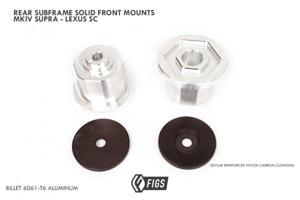 REAR SUBFRAME PRESS-IN SOLID ALUMINUM BUSHINGS MKIV SUPRA, G1 GS300, SC , JZX100