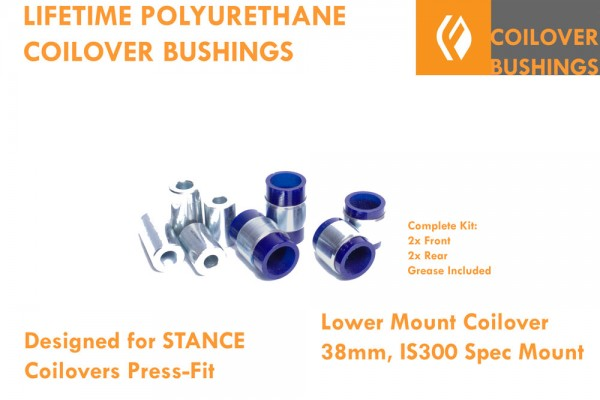 IS300 SXE10 38MM COILOVER (STANCE) PRESS-IN POLYURETHANE BUSHINGS