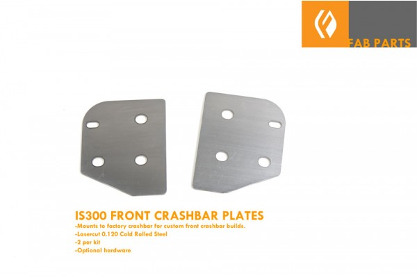 IS300 FRONT CRASHBAR FAB PLATES