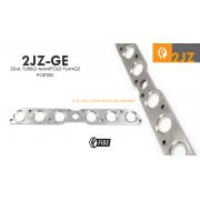 DIY 2JZ-GE NA-T PORTED TURBO MANIFOLD FLANGE 304 STAINLESS LASERCUT