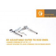 Extreme Drop Adjustable V2 Outer Tie rod ends with Bump steer spacers