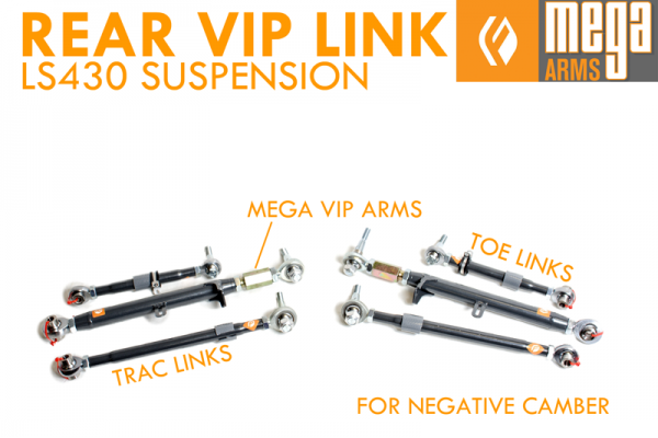 FIGS MEGA ARMS LS430 REAR LINK KIT VIP EXTREME EDITION