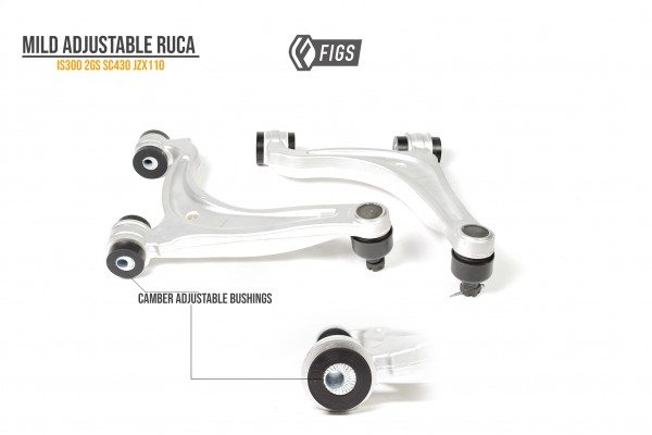 ADJUSTABLE REAR UPPER CONTROL ARMS WITH POLY BUSHINGS INSTALLED IS300/2GS/SC430/JZX110