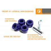 FRONT LOWER ARM FRONT MOUNT #1 POLY BUSHING 90 HIGH PERFORMANCE GEN 3IS 2IS IS-F 3GS RWD